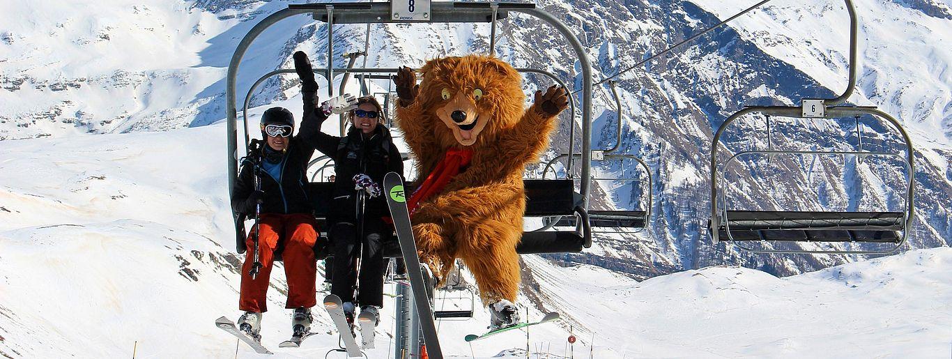 Orcy sur le domaine skiable d'Orcières !