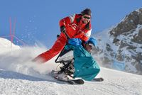 Handi ski avec l'ESF - © ESF Orcières