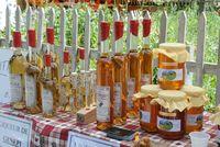 Produits locaux sur le marché d'Orcières Merlette - © Gilles Baron